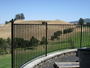 Healdsburg wrought security fence